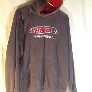 AND1 Men's Pullover Hoodie 100% Polyester